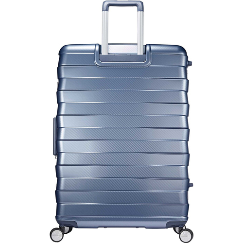 Samsonite Framelock Hardside Checked Luggage with Spinner Wheels, 28 Inch, Ice Blue