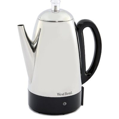 West Bend 54159 Classic Stainless-Steel 12-Cup Percolator - Open Box