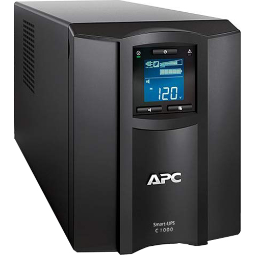 APC Smart UPS with SmartConnect Remote Monitoring Pure Sine Wave Backup - SMC1000C