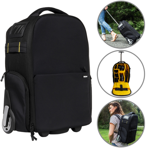 3-in-1 Travel Camera Case - Waterproof Trolley, Backpack, Carry On Bag