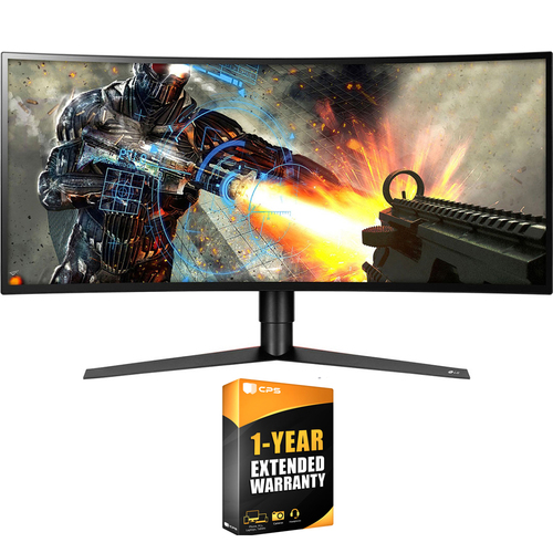 LG 34` UltraWide QHD Curved LED Monitor (Renewed) + 1 Year Extended Warranty