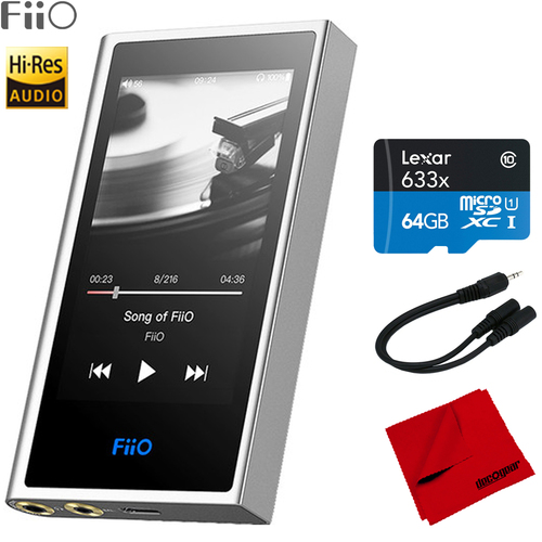 FiiO M9 Portable Hi-Res Lossless Wireless Music Player w/ 64GB Accessory Bundle