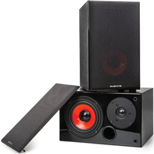 DHPAS100 Passive 140W Bookshelf Speakers, 5in. Woofer with Dome Tweeter, Black