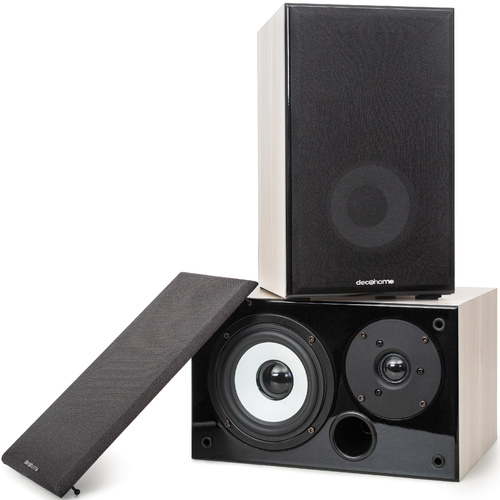 DHPAS100 Passive 140W Bookshelf Speakers, 5in. Woofer with Dome Tweeter, White