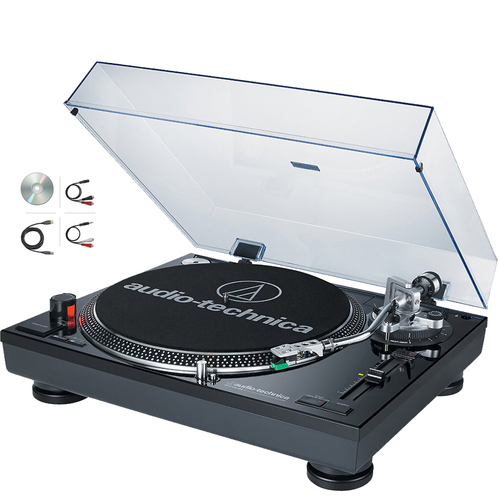 Audio-Technica ATLP120USB Professional Stereo Turntable w/ USB LP to DIG Recording - (Renewed)