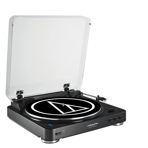 Audio-Technica AT-LP60BK-BT Turntable Automatic Bluetooth Wireless Belt-Driven - Renewed