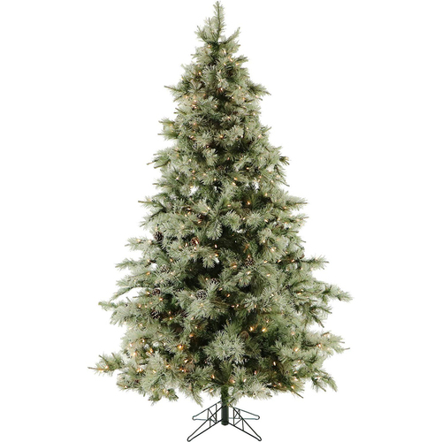 Fraser Hill 9.0 Ft. Glistening Pine Tree with Clear Smart Lights - FFGP090-3GR