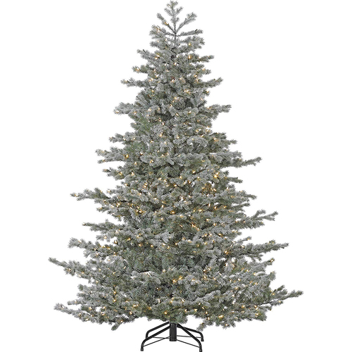 Fraser Hill Fraser Hill Farm 7.5  Oregon Fir Christmas Tree - Mlti LED Light EZ Cnt