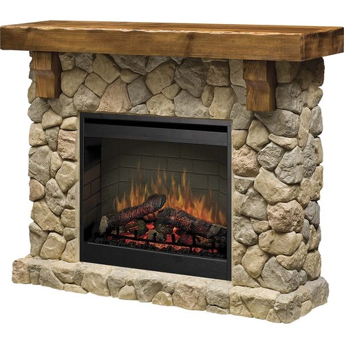 Dimplex Fieldstone Media Console - Mantel Man Made Stone (Firebox Not Included)