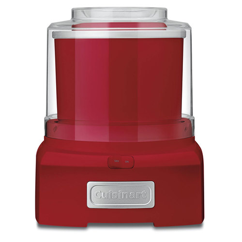 Cuisinart 1-1/2 Quart Ice Cream Maker ICE-21FR Red (Refurbished)