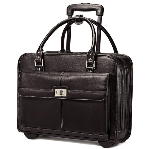 Samsonite Businesswoman's Black Mobile Office w/ Laptop Compartment  567331041 - Open Box
