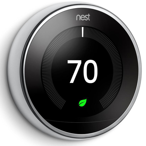 Learning Thermostat 3rd Gen Smart Thermostat (Polished Steel) T3019US