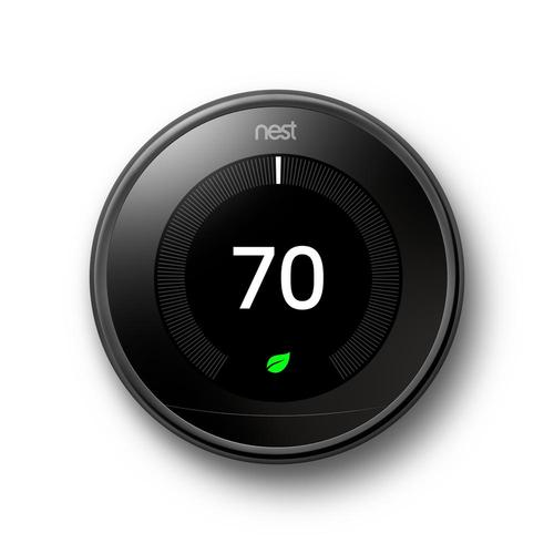Learning Thermostat 3rd Gen Smart Thermostat (Mirror Black) T3018US
