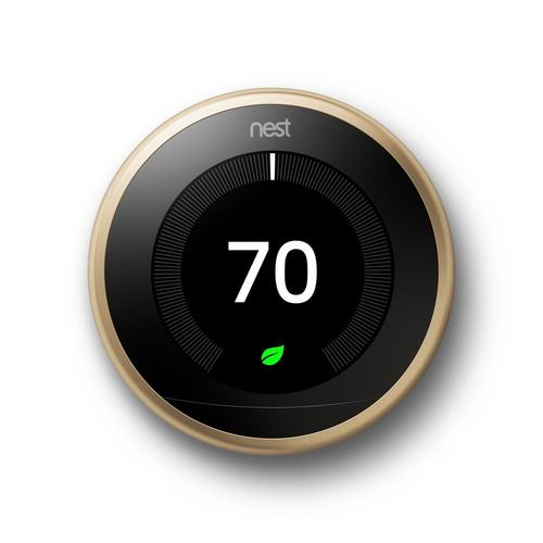 Learning Thermostat 3rd Gen Smart Thermostat (Brass) T3032US