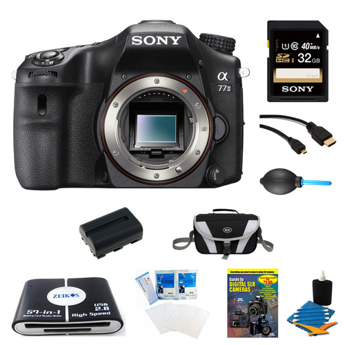 Sony a77II HD DSLR Camera, 32GB Card, and Battery Bundle