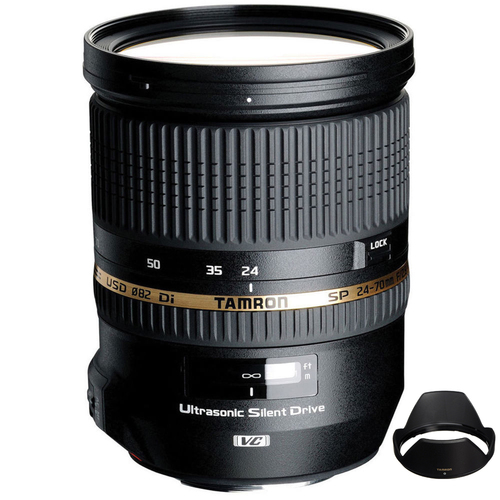 Tamron SP 24-70mm f2.8 Di VC USD Lens for Canon EOS Mount - (Certified Refurbished)