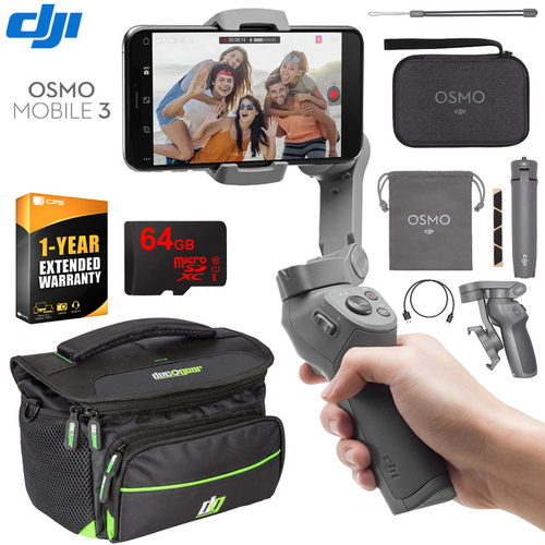 DJI Osmo Mobile 3 Gimbal Stabilizer for Smartphones Combo & Deco Gear Creator Bundle