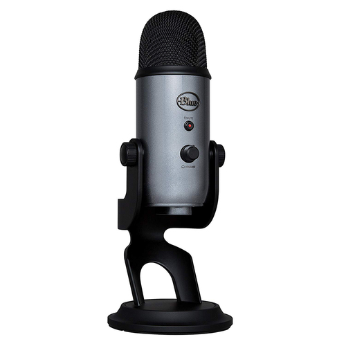 Blue Yeti USB Microphone - (988-000084) (Lunar Gray) with Desktop Stand