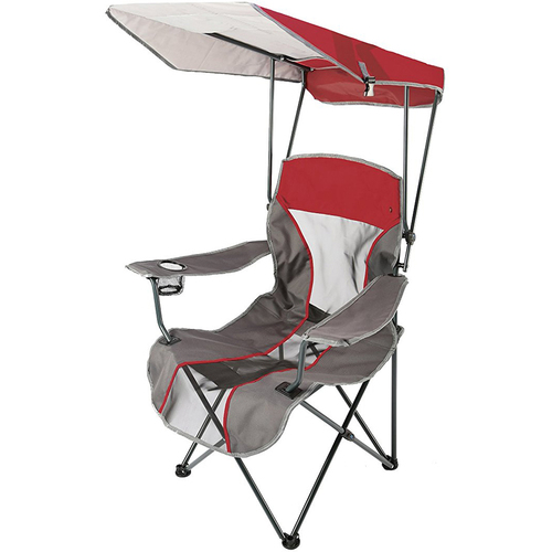 Swimways Kelsyus Original Canopy Chair in Red and Gray - 80187 - Open Box
