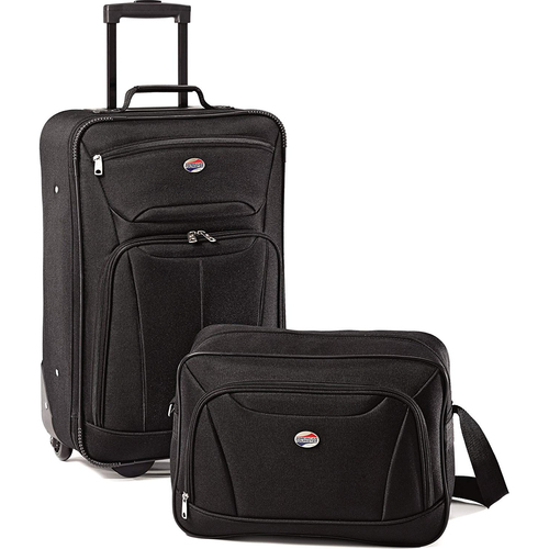 American Tourister Fieldbrook II Two-Piece Luggage Set (Black)