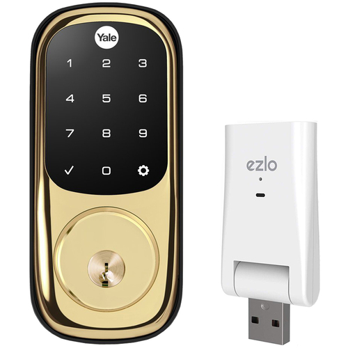 Yale Locks YRD226-ZW2-605 Assure Lock Touchscreen w/ Z-Wave + Ezlo Atom Home Control Hub