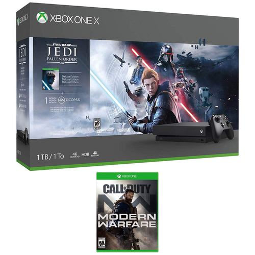Microsoft Xbox One X Star Wars Jedi Fallen Order 1 TB + Call of Duty