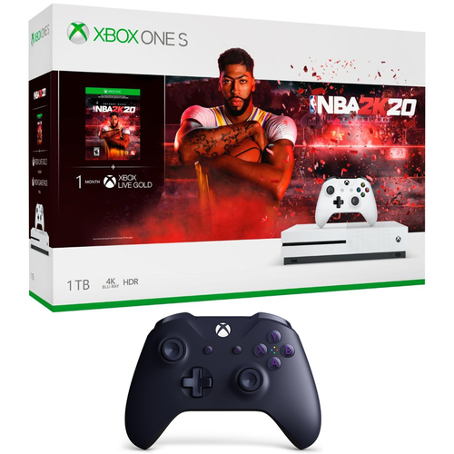 Microsoft Xbox One S 1 TB Console with NBA 2K20 and Controller + Controller
