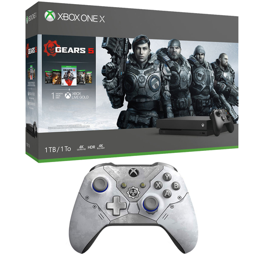 Microsoft Xbox One X Gears Of War 5 Bundle + Wireless Controller Kate Diaz Limited Edition