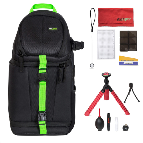 Deco Gear SB250B Sling Backpack Accessories Kit for DSLR and Mirrorless Cameras