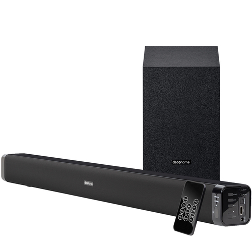 60W Soundbar with Subwoofer - Premium 2.1 Channel Audio - Wireless Connectivity
