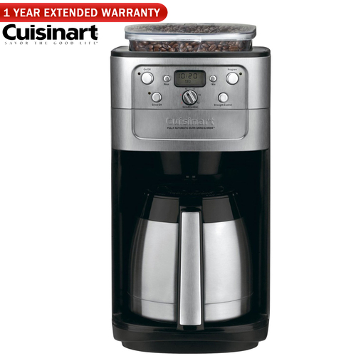 Cuisinart Grind & Brew Thermal 12-Cup Coffeemaker - (Renewed) +1 Year Extended Warranty