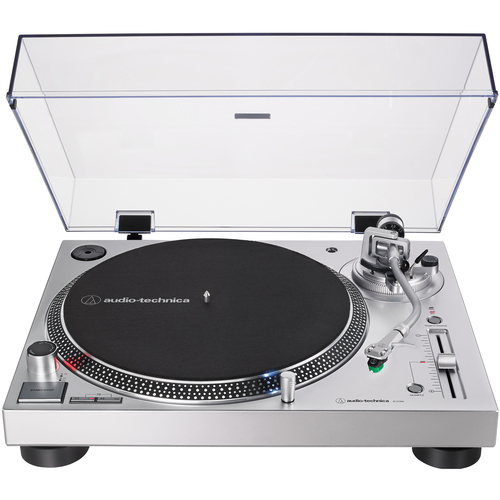 Audio-Technica AT-LP120XUSB-SV Direct-Drive Turntable (Analog & USB) Silver - (Renewed)