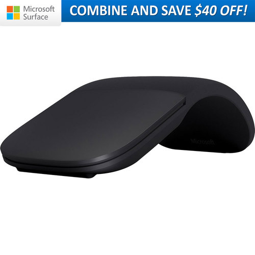 Microsoft Surface Arc Mouse Black: Snap On and Off ELG-00001