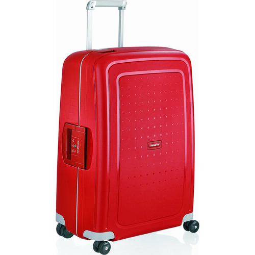 Samsonite S'Cure 28` Spinner Luggage - Crimson Red - Open Box