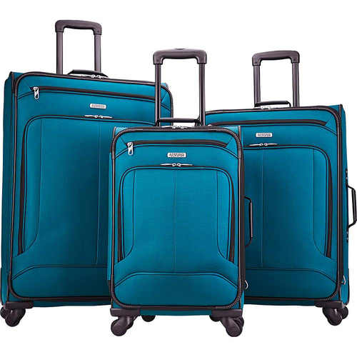 American Tourister Pop Max 3 Piece Luggage Spinner Set - 29/25/21(Teal)(115358-2824) - Open Box