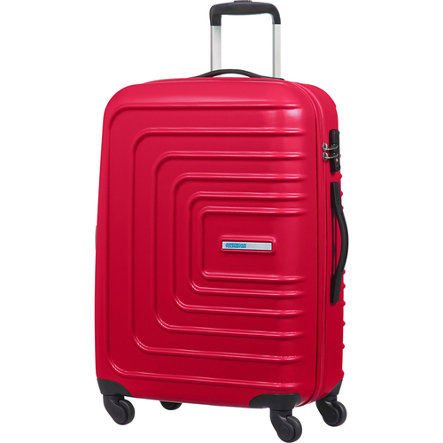 American Tourister 20` Sunset Cruise Hardside Spinner Luggage, Lightning Red - Open Box
