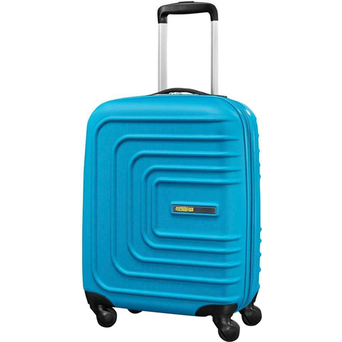American Tourister 24` Sunset Cruise Hardside Spinner Luggage, Summer Sky Blue - Open Box