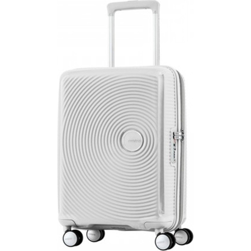 American Tourister 20` Curio Hardside Spinner Luggage, White - Open Box