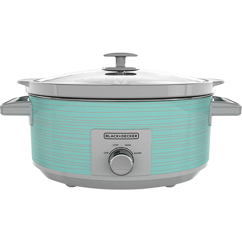 Black & Decker BD 7Qt Slow Cooker Teal Wave - Open Box