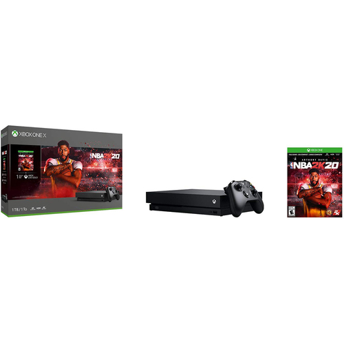 Microsoft Xbox One X Bundle: 1 TB Console with NBA 2K20 and Wireless Controller - Open Box