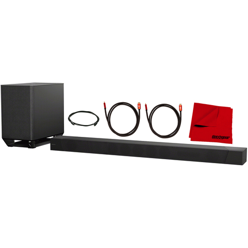 Sony HT-ST5000 7.1.2ch 800W Dolby Atmos Sound Bar and Deco Gear HDMI Cable Bundle