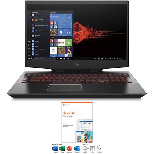 Hewlett Packard Omen 17` Gaming Laptop Intel Core i7-9750H + Office 365