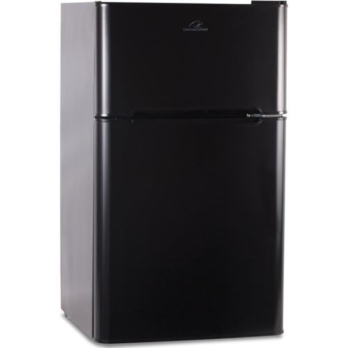 Commercial Cool CCRD32B 3.2 Cu. ft. Double Door Mini-Refrigerator with True Freezer, Black