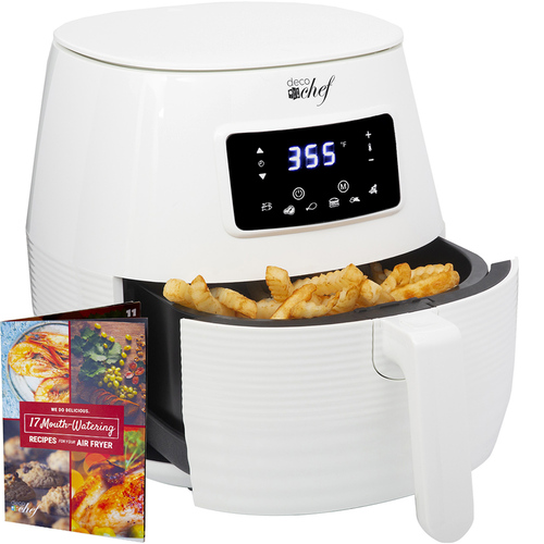 Deco Chef Digital 5.8QT Electric Air Fryer - Healthier & Faster Cooking - White - Open Box