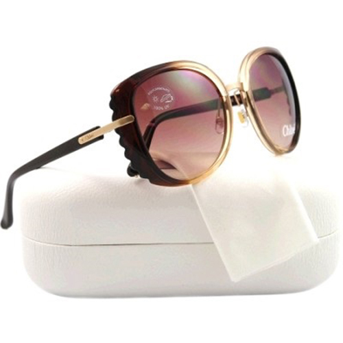 Chloe C02 Fashion Sunglasses - Chocolate Frame/Brown Lens (CL2250C02)