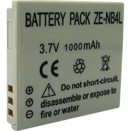 Zeikos NB-4L 900mAh Lithium Battery for Powershot SD940, SD1400 , SD960 , SD1000