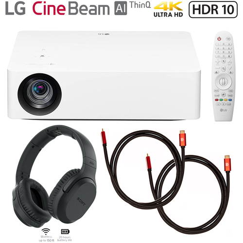 LG HU70LA 4K UHD LED Smart Home Theater Projector w/ Sony Headphones Bundle