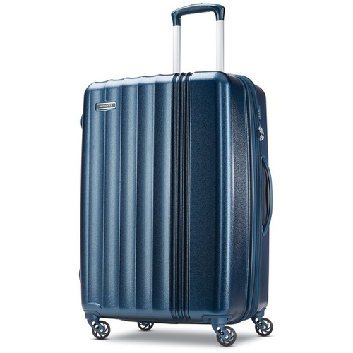 Samsonite Cerene Hardside Luggage  25` Checked Medium with Spinner Wheels, Blue