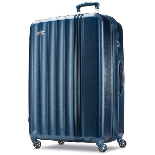 Samsonite Cerene Hardside Luggage  29` Checked Large with Spinner Wheels, Blue