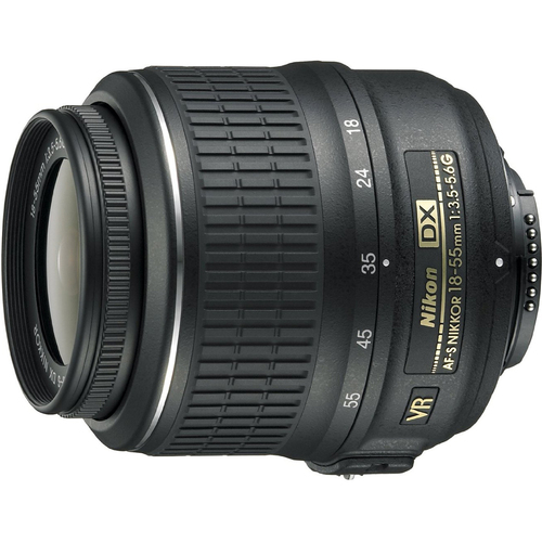 Nikon 18-55mm f/3.5-5.6G VR AF-S DX Nikkor Zoom Lens - (Renewed)